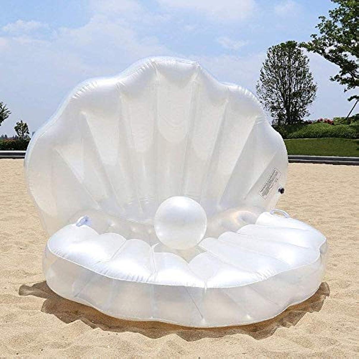 ケーブルカー夢中環境ZYstyle 新しい夏のファッションは、プールを折り、真珠の玉ファンインフレータブルフロートラインは、夏のパーティーを膨らませて、フローティングベッドウォーター山屋外ガーデン人魚
