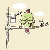 「パブリックトイレ」で面白い鳥ツリーW /トイレットペーパーロール–ビニールステッカー