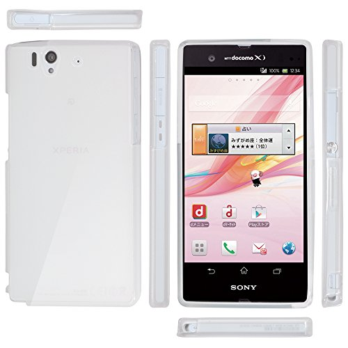 OVER's エクスペリア Z ケース SO-02E / Xperia Z SO-02 カバー 1.05mm TPU 4点セット ( Xperia カバー *1 & 液晶保護フィルム*1 & ミニクロス*1 & 埃取りセット*1 ) 365日保証付き