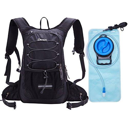 水和バックパック 軽量 防水 ハイドレーションバッグ メンズ レディース リュック(2L給水袋付き) 登山 クランニング ハイキング バイクサイクリングなど兼用 (ブラック)