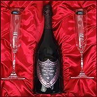 Riedel (リーデル) プレミアムギフト シャンパングラス&ドンペリニヨン ロゼ (ピンドン)最新ヴィンテージ [2005] ギフトセット