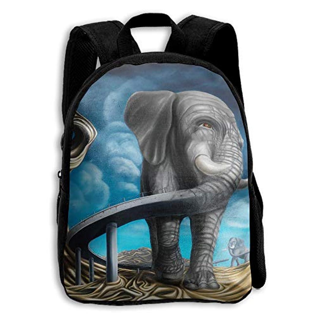 患者特異な葉巻キッズ バックパック 子供用 リュックサック 象猿ペインティング ショルダー デイパック アウトドア 男の子 女の子 通学 旅行 遠足