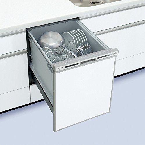 【NP-45VD7S】 Panasonic[パナソニック] ビルトイン食器洗い乾燥機(食洗機) V7シリーズ 幅45cm ディープタイプ 奥行65 ドアパネル型/シルバー 約6人分