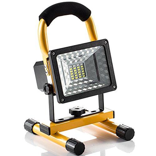 プロジェクター小型 24個15wLED投光器 作業用照明  充電式LED作業灯 ledランタン 探照灯 ポータブル投光器 明るさと照明角度調整可能 USB出力充電対応 アウトドア 看板灯 夜釣り キャンプ 夜間作業などで大活躍 (黄色)