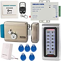 UHPPOTE アクセスコントロールシステムキット スタンドアロンRFIDキーパッド カードリーダー 電気錠 電源 ドアベル リモート
