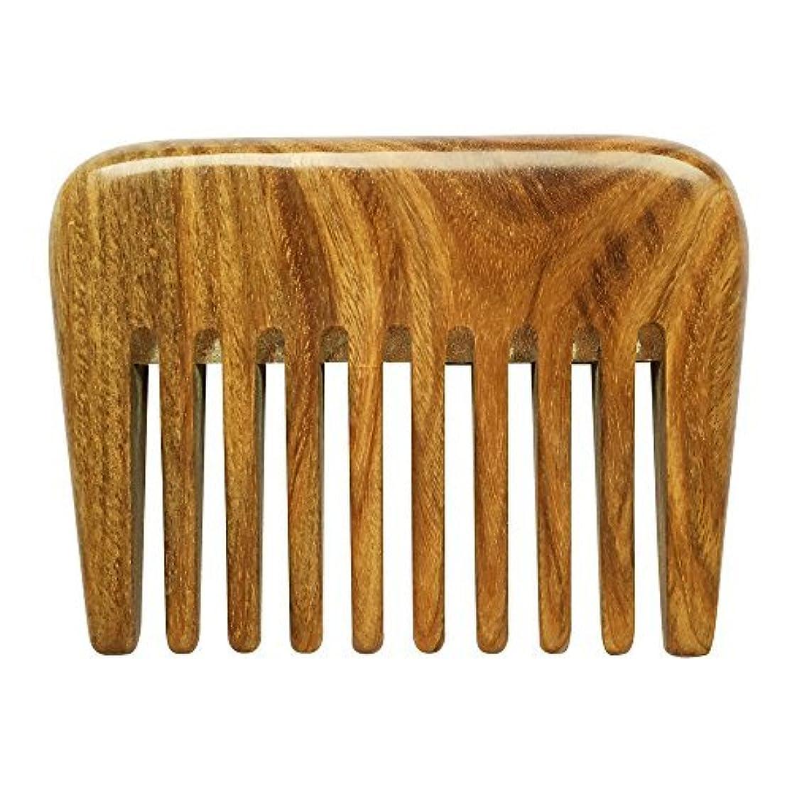 郵便屋さんにぎやかオープナーBeneAlways Portable Hair & Beard Comb/Pick ? Made From One Whole Piece of Natural Green Sandalwood with Fragrant...