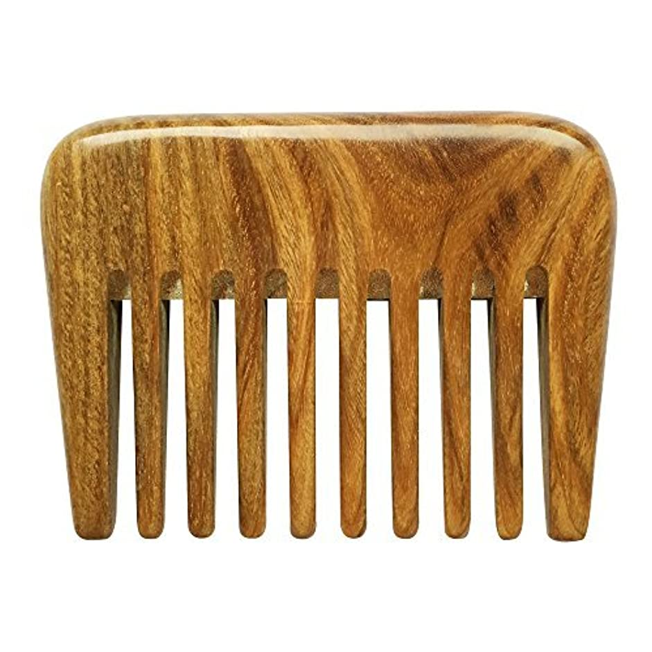 BeneAlways Portable Hair & Beard Comb/Pick ? Made From One Whole Piece of Natural Green Sandalwood with Fragrant...