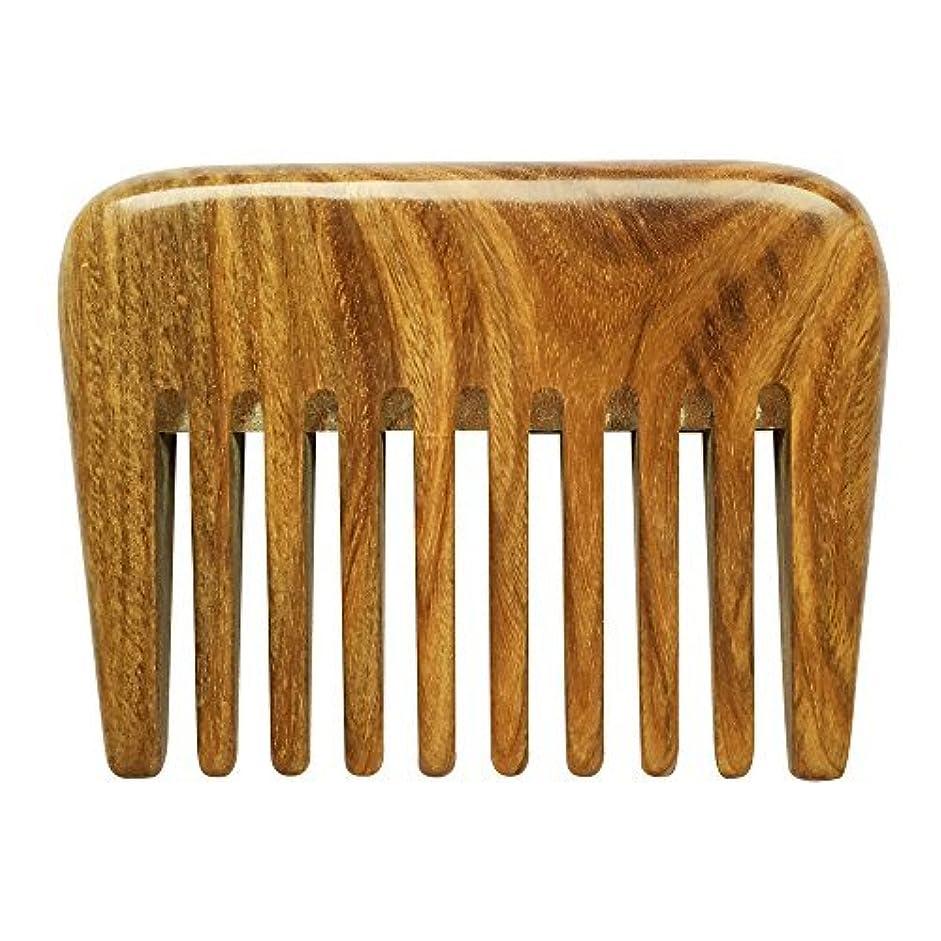 眉をひそめる化合物ピークBeneAlways Portable Hair & Beard Comb/Pick ? Made From One Whole Piece of Natural Green Sandalwood with Fragrant...