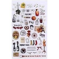 Greensun TM 1sheetキュートひな形Kawaii装飾スクラップブックPlannerステッカー/付箋/ Filofax / papeleria子供おもちゃステッカー