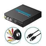 ELUTENG HDMI コンポジット変換 + S端子 変換器 1080P 高解像度 NTSC / PAL 切り替え可 AV / S-Video 出力 アダプタ HDMI1.3 デジタル アナログ コンバーター HDMI to Composite 3RCAケーブル + S-Videoケーブル付属 Blu-Ray / PS4 / PS3 / XBox / PC / 車載 / モニター など対応 [並行輸入品]