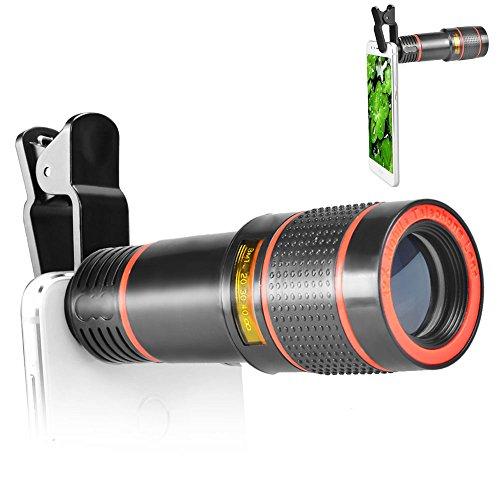 aceyoon スマホレンズ 望遠 クリップ式 12倍 カメラ ズーム レンズ 携帯便利 取り付け易い 携帯レンズ 撮影範囲大 10 - 1000メートル zoom lens for iphone android スマートフォン 対応 運動会 コンサート等に最適