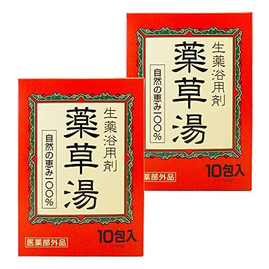 酸度境界塩【まとめ買い】 薬草湯 生薬浴用剤 10包入×2個 自然のめぐみ100% 医薬部外品