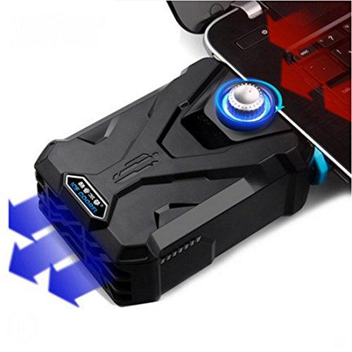 吸引式クーラー EletecPro USB ターボノートPCクーラー USB冷却器 USB冷却ファン ノート冷却ファン USBクーラーファン ノートパソコン用冷却ファン CPUクーラー 軽量 静音タイプ