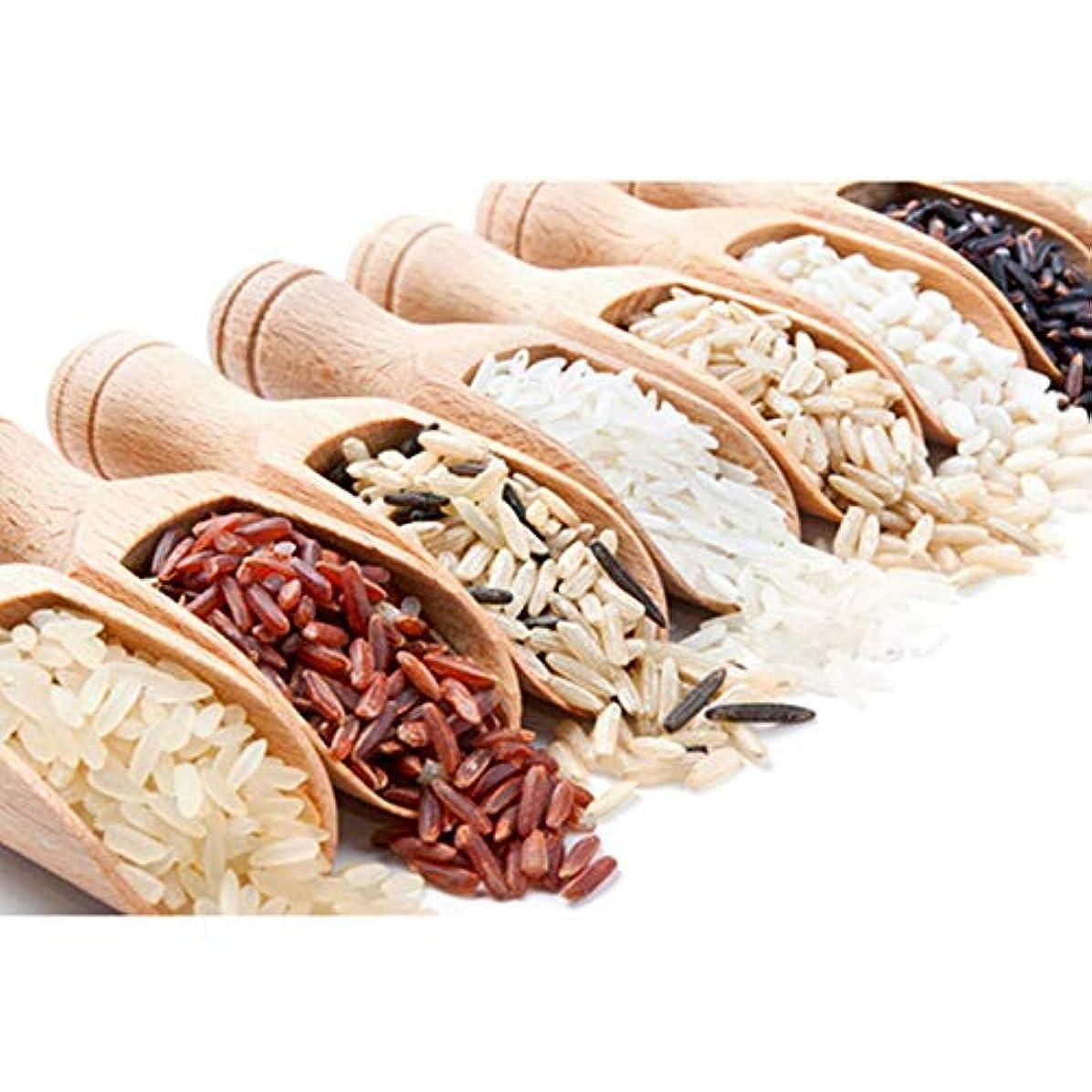 受粉者委任する解任3個入りミニ木製塩スプーン、ミルクパウダー/コーヒー/紅茶/キャンディー/小麦粉塩ミニスプーンホームキッチンツール(7.2×2.2cm)