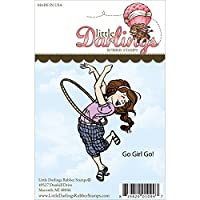 (Go Girl Go) - Stamps - Little Darlings Go Girl Go Unmounted Rubber Stamp