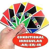 Verbo Spanish Card Game Irregular Conditional -AR/ER/IR Verbs