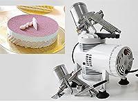 MXBAOHENGムースガンス プレーガン フォンダントケーキ 発泡 250W 2つエアシリンダー電動スプレーガン 取り外し可能な高圧ケーキ チョコレートのツールノズル様々菓子屋など適用 小型 ノイズがない業務用家庭用白い (110V)