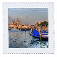 3drose Danita Delimont–ヴェネツィア–ゴンドラの前でChurch of San Giorgio Maggiore , Venice , Italy。–キルト正方形 18x18 inch quilt square qs_257744_7