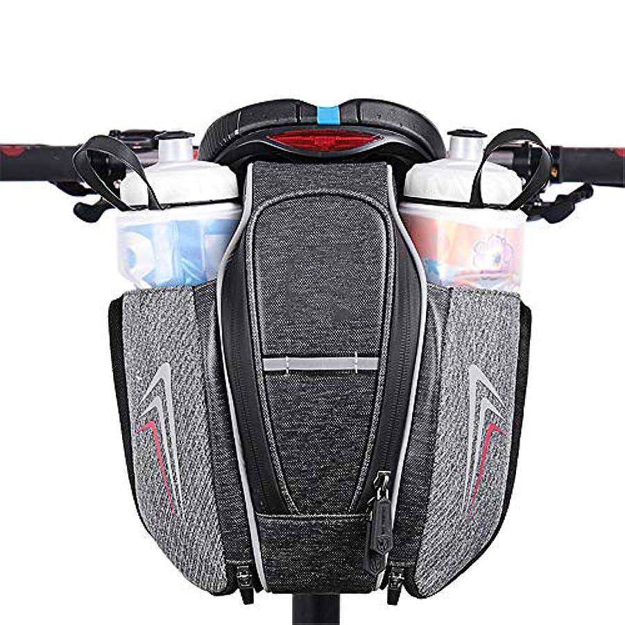 協定一感じ自転車サドルバッグダブルボトルポケットポーチ自転車テールパック付きマウンテンロードMTB用バイクウォーターボトル/修理ツールキットポケットパック乗馬サイクリング サドルバッグ?フレームバッグ