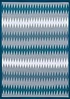 綿混ラグ 平織りカーペット ポルカ ダイアモンド ブルー 46X180cm マット リバーシブル