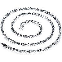WINOMO メンズファッションクラシックネックレス錆びないチタン鋼のカーブチェーン太いリンクのネックレス