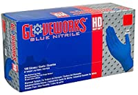AMMEX - GWRBN46100 - Nitrile Gloves - Gloveworks - HD, Disposable, Powder Free, 6 mil, Large, Royal Blue (Case of 1000) [並行輸入品]