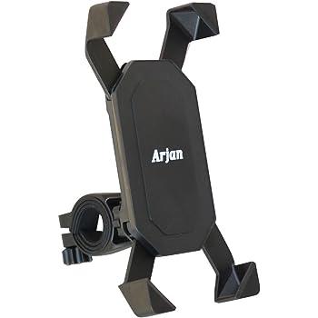 Arjan スマホホルダー 自転車 バイク スマホ ホルダー 携帯ホルダー スマホ ロードバイク 多機種対応 落下防止 [メーカー保証] (ARJ-901)