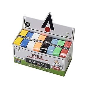 KARAKAL(カラカル) グリップ 全ラケットスポーツ対応 PU SUPER GRIP 24 Assorted 24個1セット KA 665 赤 白 ピンク 黄 オレンジ 水色 青 黒 黄緑