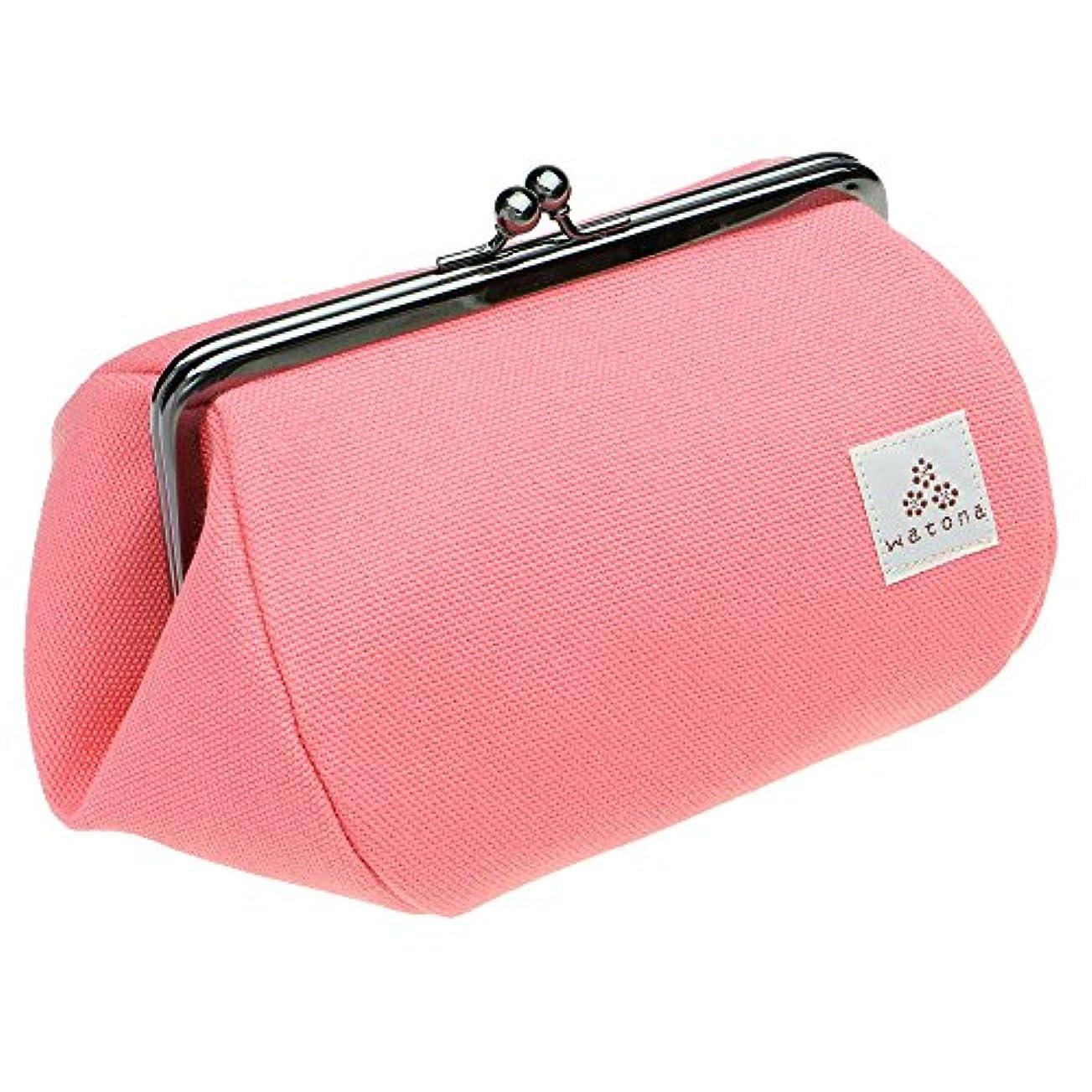 watona 帆布がま口 化粧ポーチ 4.5寸 Lサイズ