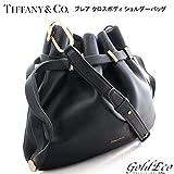 Tiffany&Co (ティファニー)ブレア クロス ボディバッグ斜めがけ ショルダーバッグレザー ブラック 黒レディース バッグ(中古) 巾着型 美品Tiffany&Co (ティファニー)