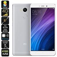 Xiaomi Redmi 4 Prime SIMフリー スマートフォン - Android 6.0 , 4G LTE , 5 Inch スクリーン , 4100mAh バッテリー , 指紋認証 , Snapdragon CPU , 3GB RAM , 32GB ROM (シルバー) [並行輸入品]
