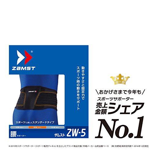 ザムスト(ZAMST) 腰 サポーター ZW-5 ゴルフ バレー Lサイズ  ブラック 383503