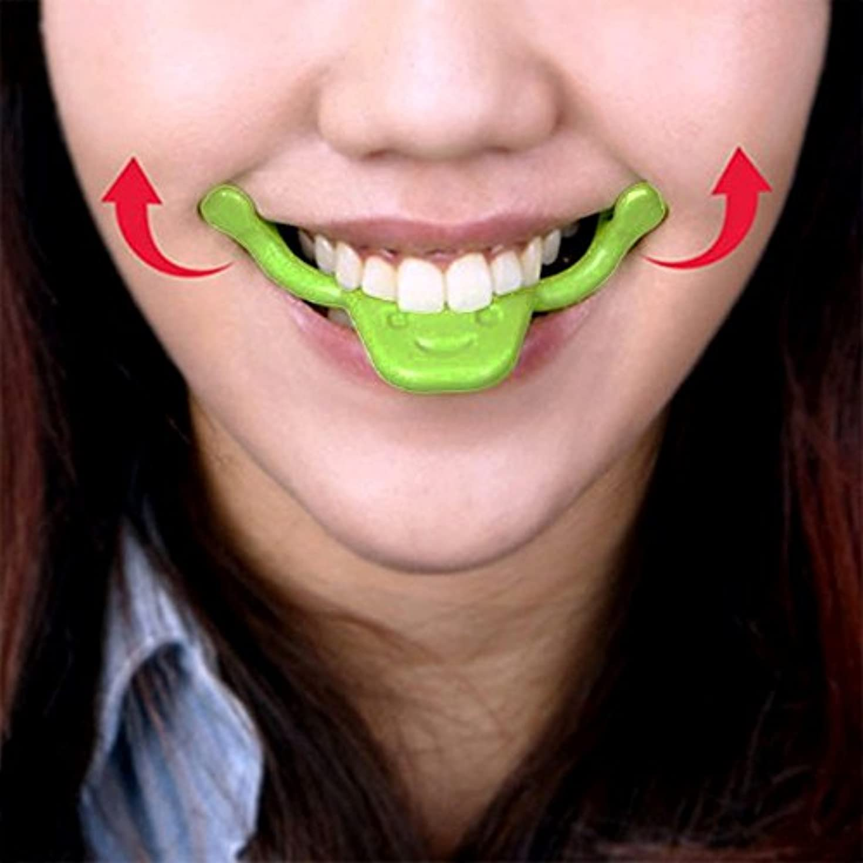 仮定ヘビアコー表情筋 トレーニング 小顔 ストレッチ ほうれい線 二重 あご 消す 口角を上げるグッズ 美顔 顔痩せ リフトアップ マウスピース フェイシャルフィットネス (タイプ2)