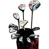 ワールドイーグル F-01α メンズ ゴルフ クラブ フルセット レッド バッグver.【右用】 フレックスS WE-J-F-01-MRH-RD