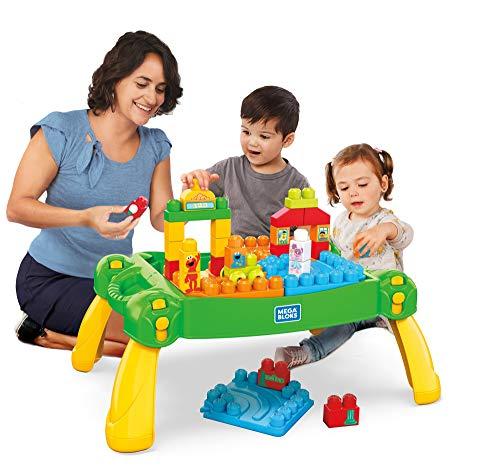 Mega Bloks Sesame Street Build & Learn Neighborhood Play Table, Multicolor