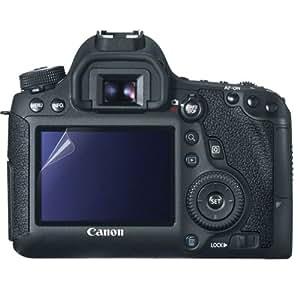 CANON EOS 6D 液晶モニター用 保護フィルム + 取付用クロス ( キャノン EOS6D デジタル一眼レフカメラ モニター 対応) 自己吸着式 SCREEN SHIELD コーティング スクリーンシート【画面保護&指紋防止】