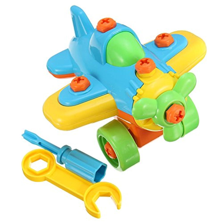 yoedafキッズ教育子供おもちゃギフトDIY S Planeブロックパズル(ランダムカラー) airplane 15245753656330