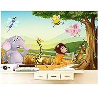 3D写真の壁紙キッズルーム壁画漫画の世界の大きな木HD写真ソファテレビの背景の壁紙mural-300cm(W)x 200cm(H)(9'8 '' x 6'5 '')ft