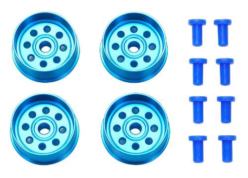 ミニ四駆限定 HG 大径ナローアルミホイール (4本) (ブルー) 94732