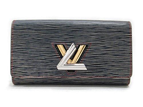 [ルイヴィトン] LOUIS VUITTON ポルトフォイユ・ツイスト 二つ折り長財布 長財布 ネイビー エピ M60996 [中古]