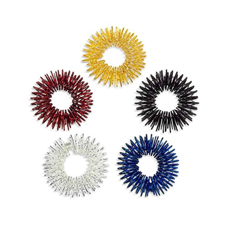 かもめ宅配便直径Healifty 5本指圧マッサージリング子供のための指の循環リング十代の若者たちの大人(盛り合わせ色)