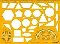 円正方形長方形楕円三角形Hexagon Pentagonシンボル図面製図テンプレートステンシルwith分度器