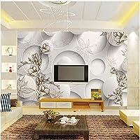 Xbwy 写真の壁紙現代のファッションの壁の壁画の花のリビングルーム-450X300Cm