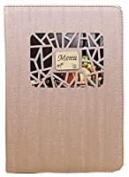 [moonfarm] 全4色 小窓付き メニュー ブック ファイル A4 木目 料理 選択 中閉じ スタンダード レシピ バインダー (ブラウン)