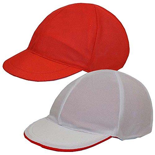 赤白帽子 つば付き 体育帽子 ...