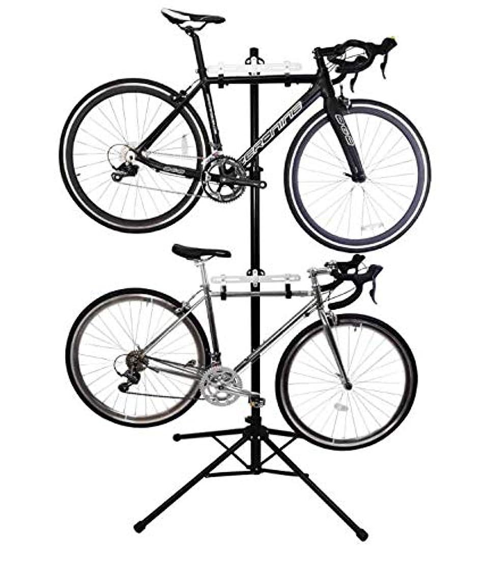 イサカプレーヤーリンクH-BIKE ディスプレイスタンド サイクルスタンド 自転車スタンド 三脚タイプ 2台 縦置き SANTAZA((海外直送品)