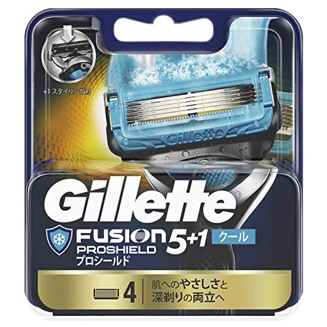 ジレット フュージョン5+1 プロシールド クール 替刃 4個入