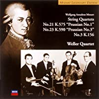 モーツァルト:弦楽四重奏曲第3番&第21番&第23番