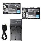 str キヤノン LP-E6 LP-E6N 互換バッテリー 2個と互換急速充電器USBチャージャーLC-E6 1個 の3点セット イオス EOS 70D MarkII EOS 6D ..