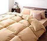 パーシモン 快眠 新 生活 20色 羽根布団 洗える 肌掛布団 8点 セット ベッド タイプ シングル ナチュラル ベージュ やすらぎ